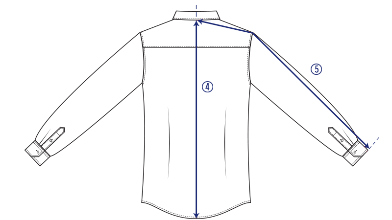 How to measure your shirt - back