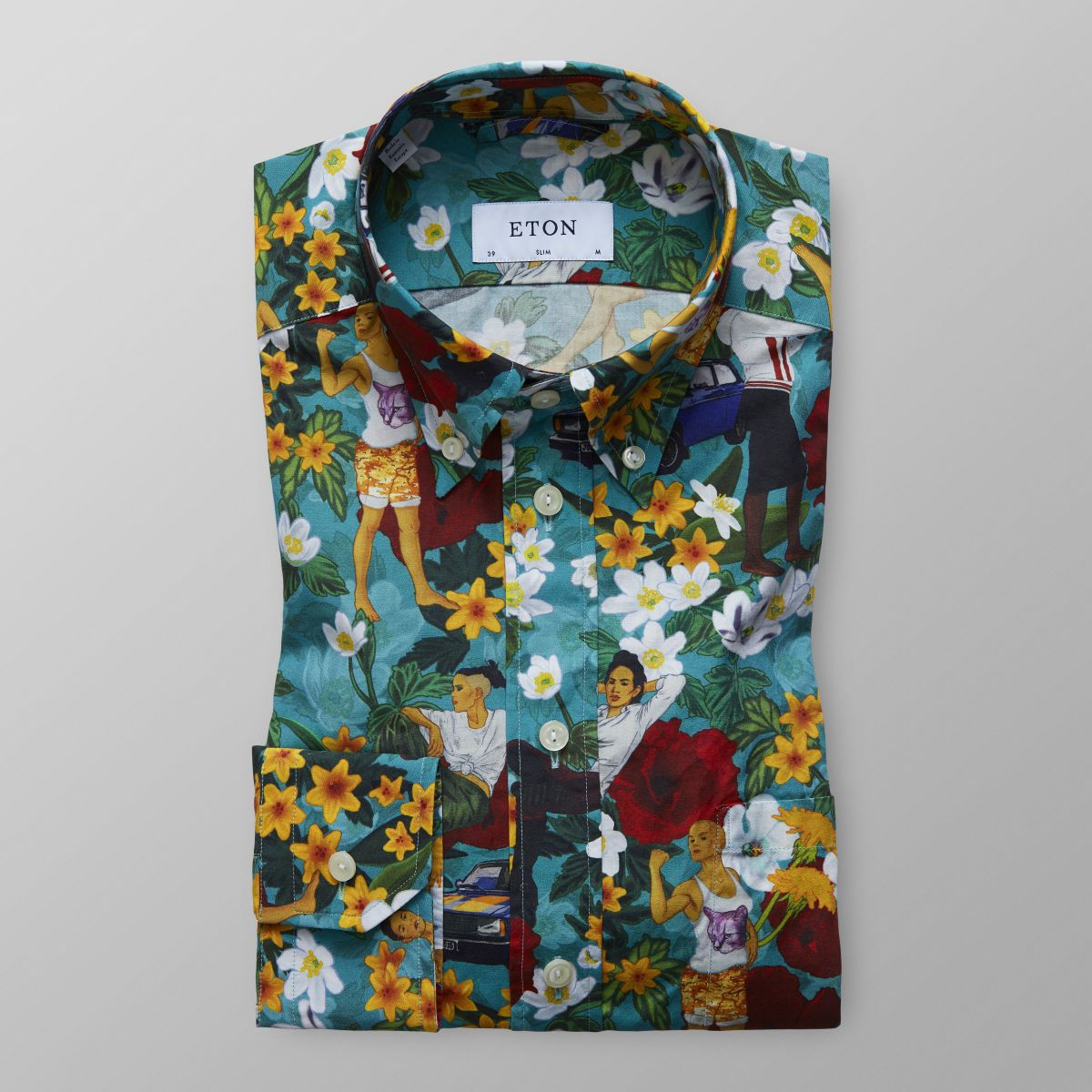 Modern Hawaii Shirt Slim Fit Eton Shirts Uk