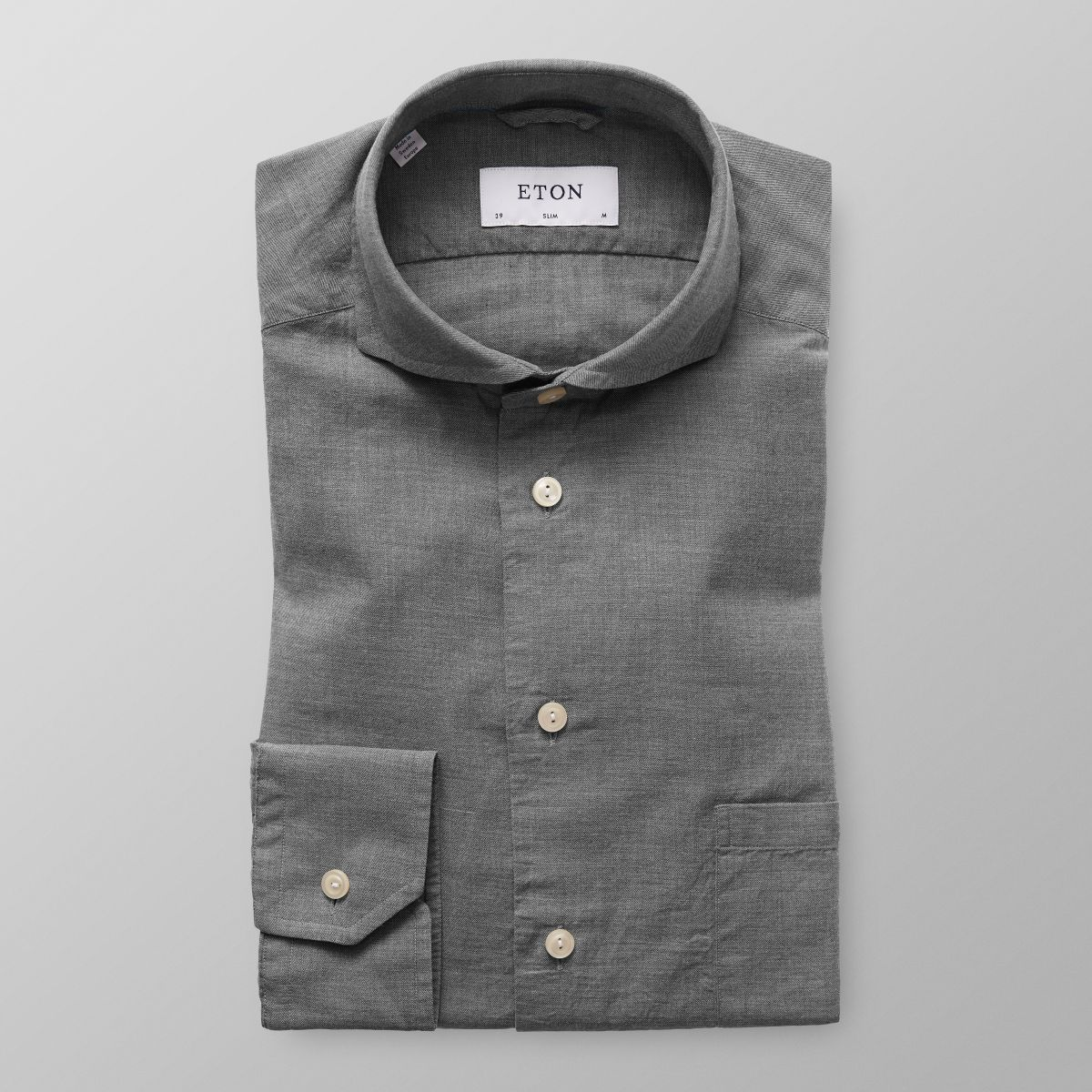 Slim fit Grey Lightweight Flannel Shirt Eton Clearance Browse High Quality For Sale Cheap Buy Authentic Looking For dRlPpZh