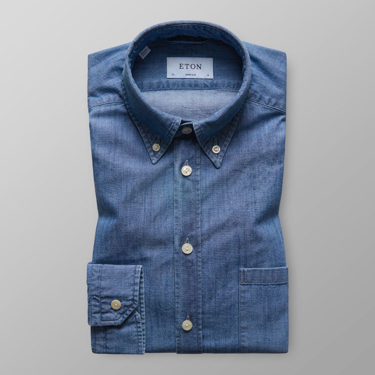 Denim Button Down Shirt - Super slim fit | Eton Shirts Deutschland