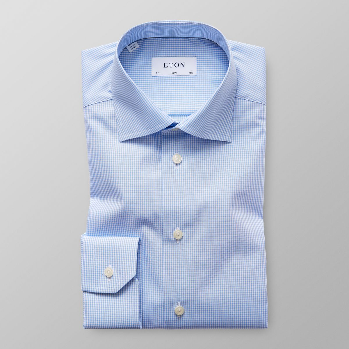 Online Cheap Price 100% Authentic Sale Online Slim fit Blue Check Poplin Shirt Eton OMiayyw453