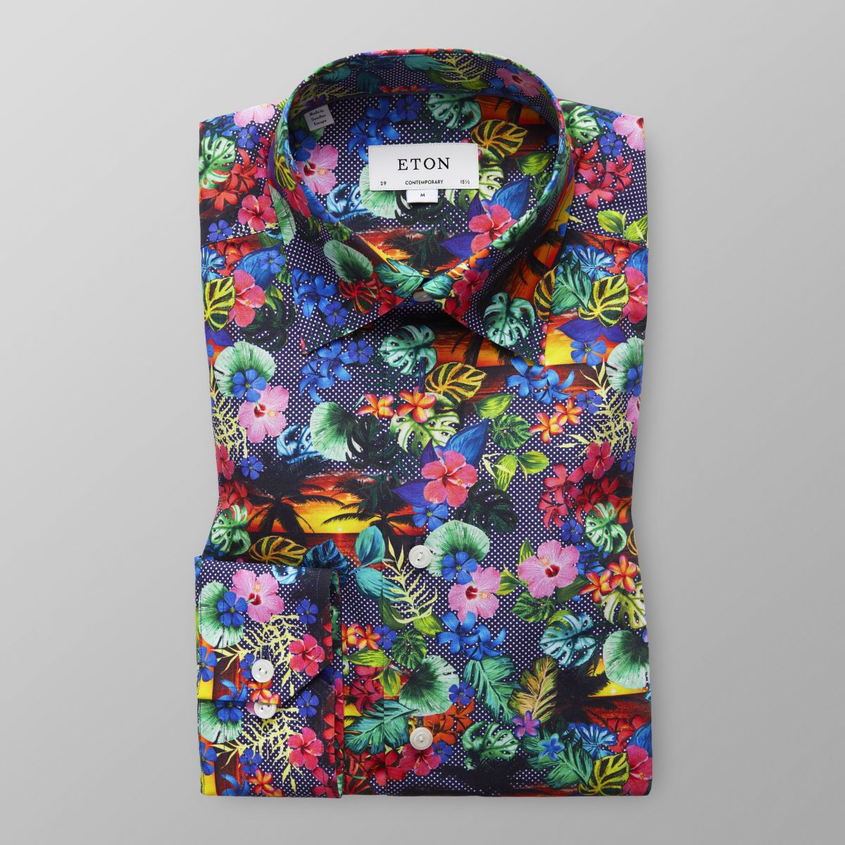 Discount Extremely Classic fit Blue Azulejo Print Shirt Eton Buy Cheap Best Store To Get New Arrival For Sale Clearance Best Sale 4vovh