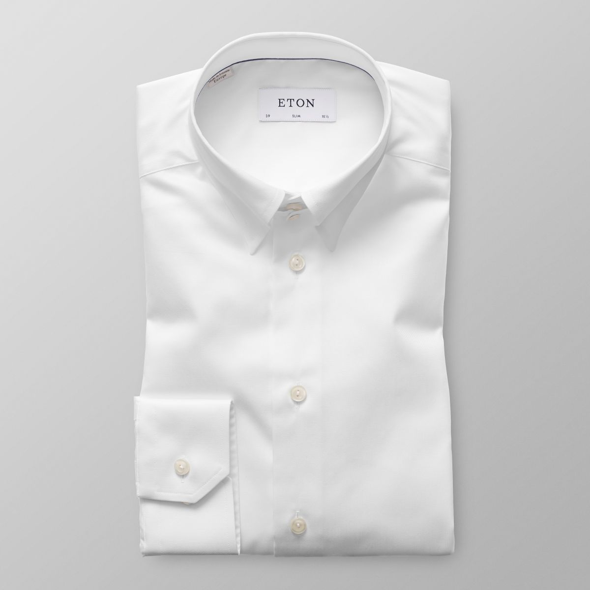 White Tab Collar Shirt Slim Eton Shirts Us