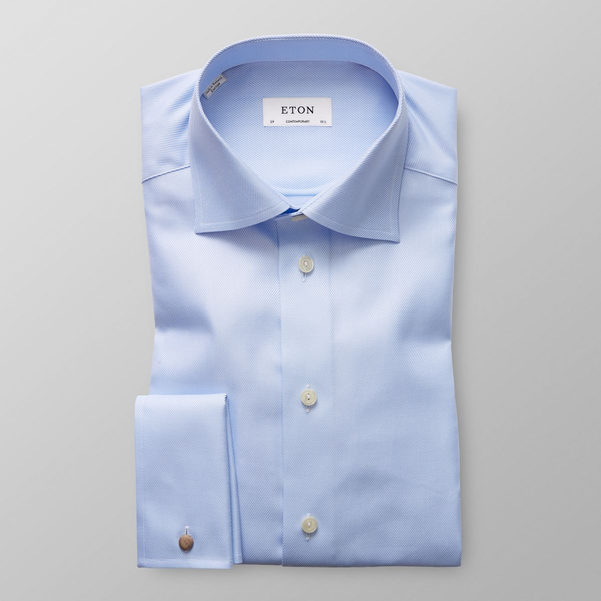 Footlocker Contemporary fit Light Blue Striped French Cuff Shirt Eton Cheap Price Outlet Sale 9nT7pGaXTv