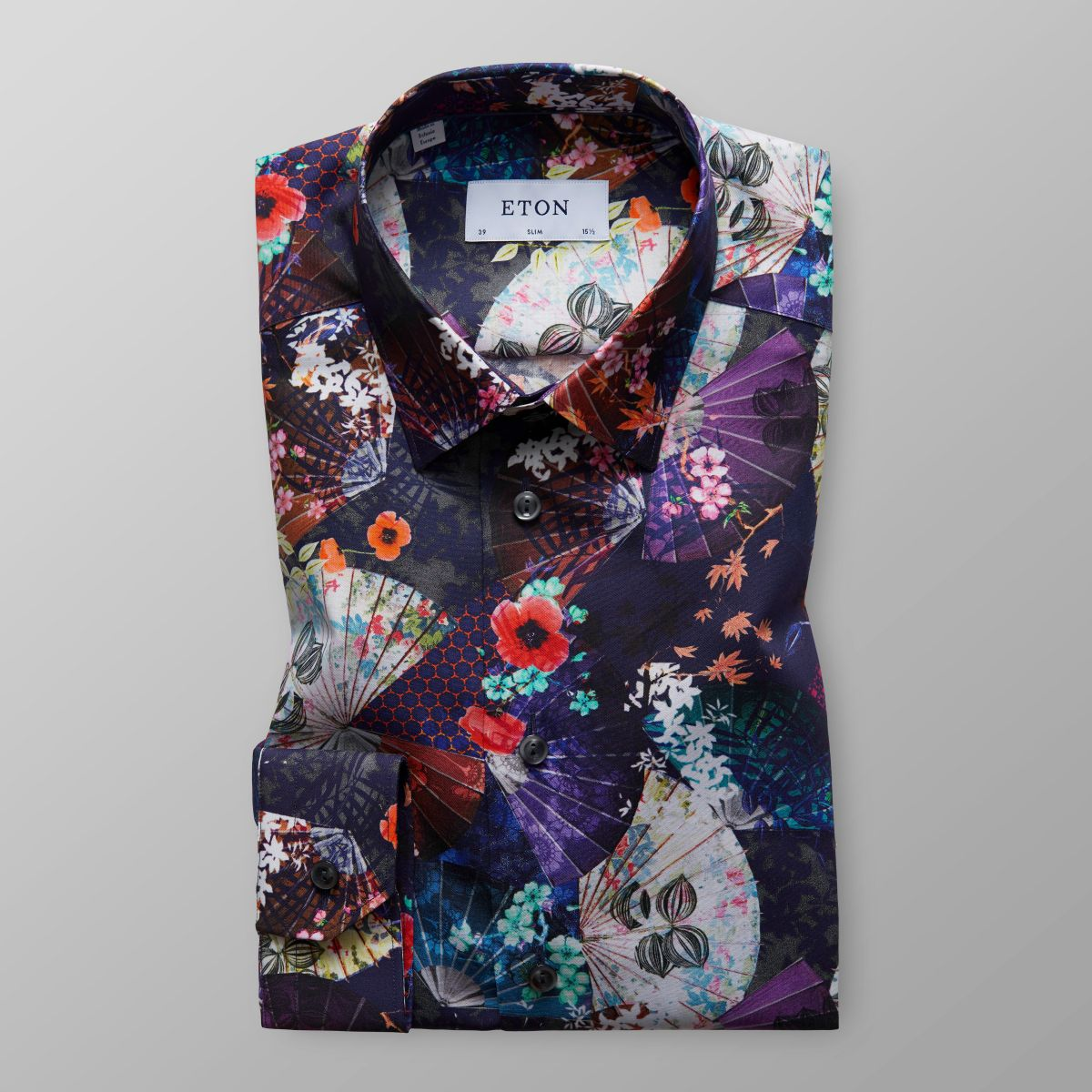 Floral print shirt slim fit eton shirts uk for Print photo on shirt