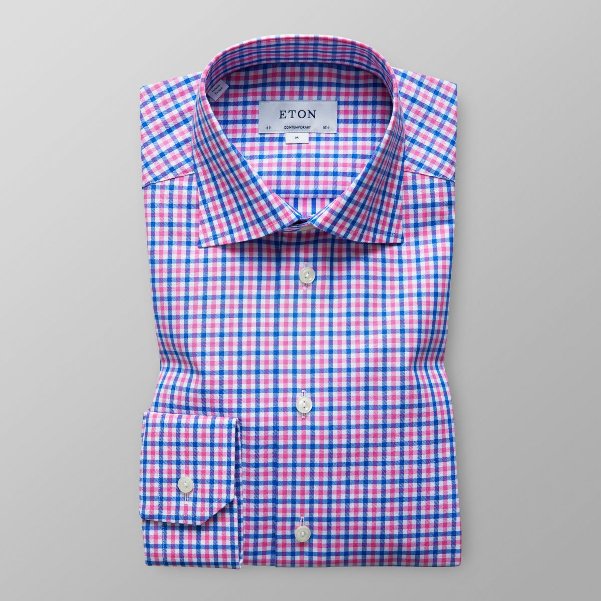 Blue & Pink Check Shirt - Contemporary fit | Eton Shirts US