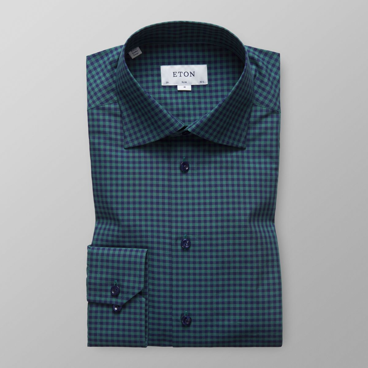 New Cheap Online Slim fit Green Gingham Check Shirt Eton Limited Buy Cheap Geniue Stockist New Arrival Sale Online 8j5Zdt8qlA
