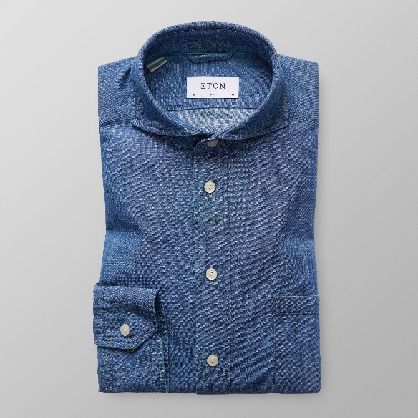 f0eb4cd03d Blue Denim Shirt - Slim fit