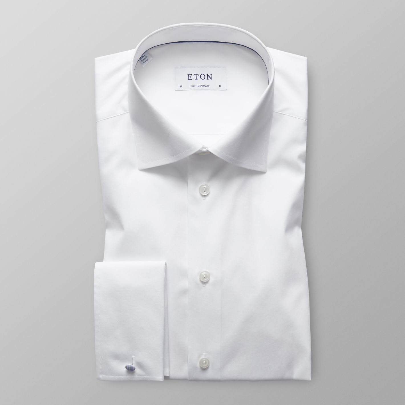 dd733cd8935 White Poplin Shirt French Cuffs - Contemporary fit