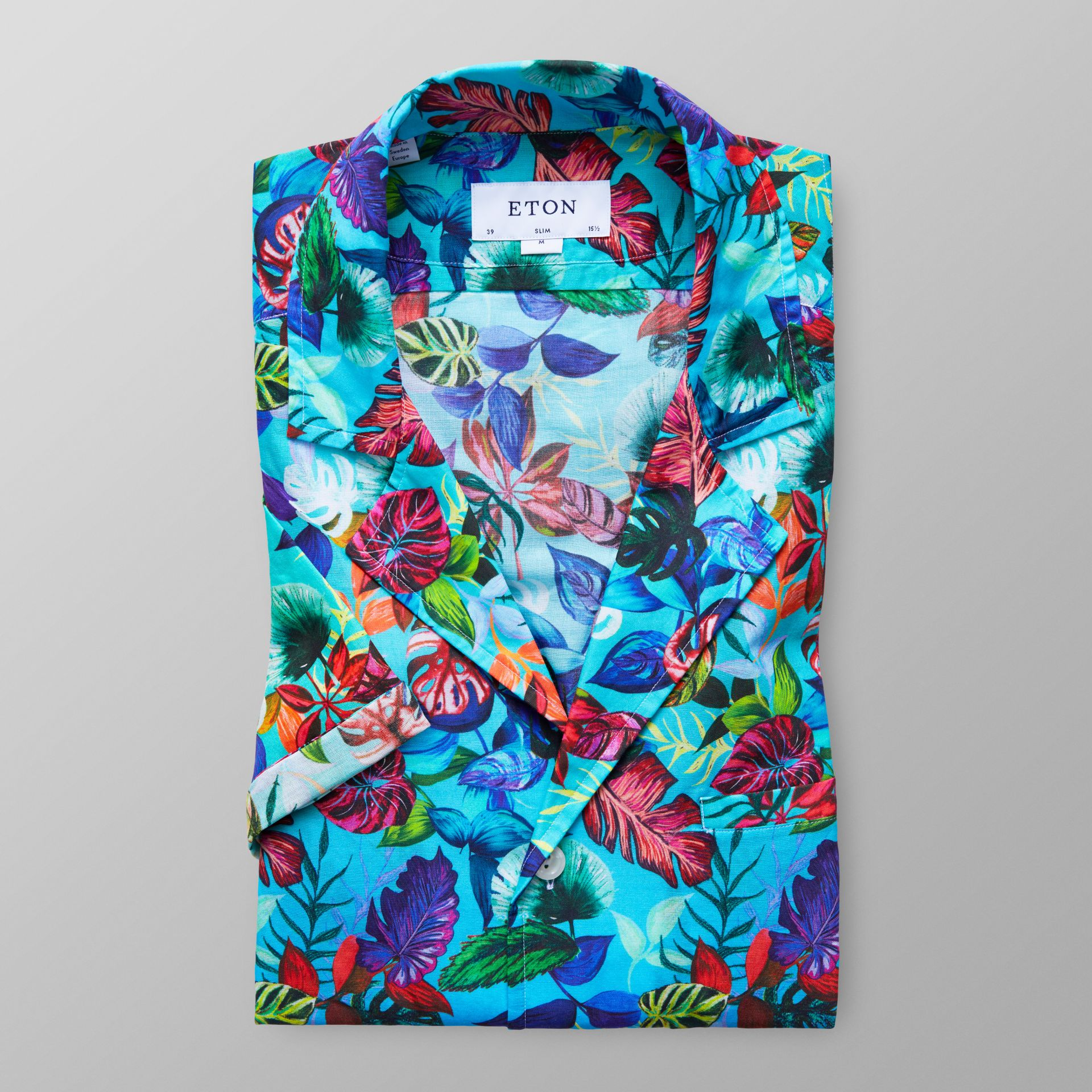Slim fit Red Palm Print Resort Shirt Eton Buy Cheap Shop Offer Buy Cheap Geniue Stockist Clearance Discount Countdown Package N0V9dMM