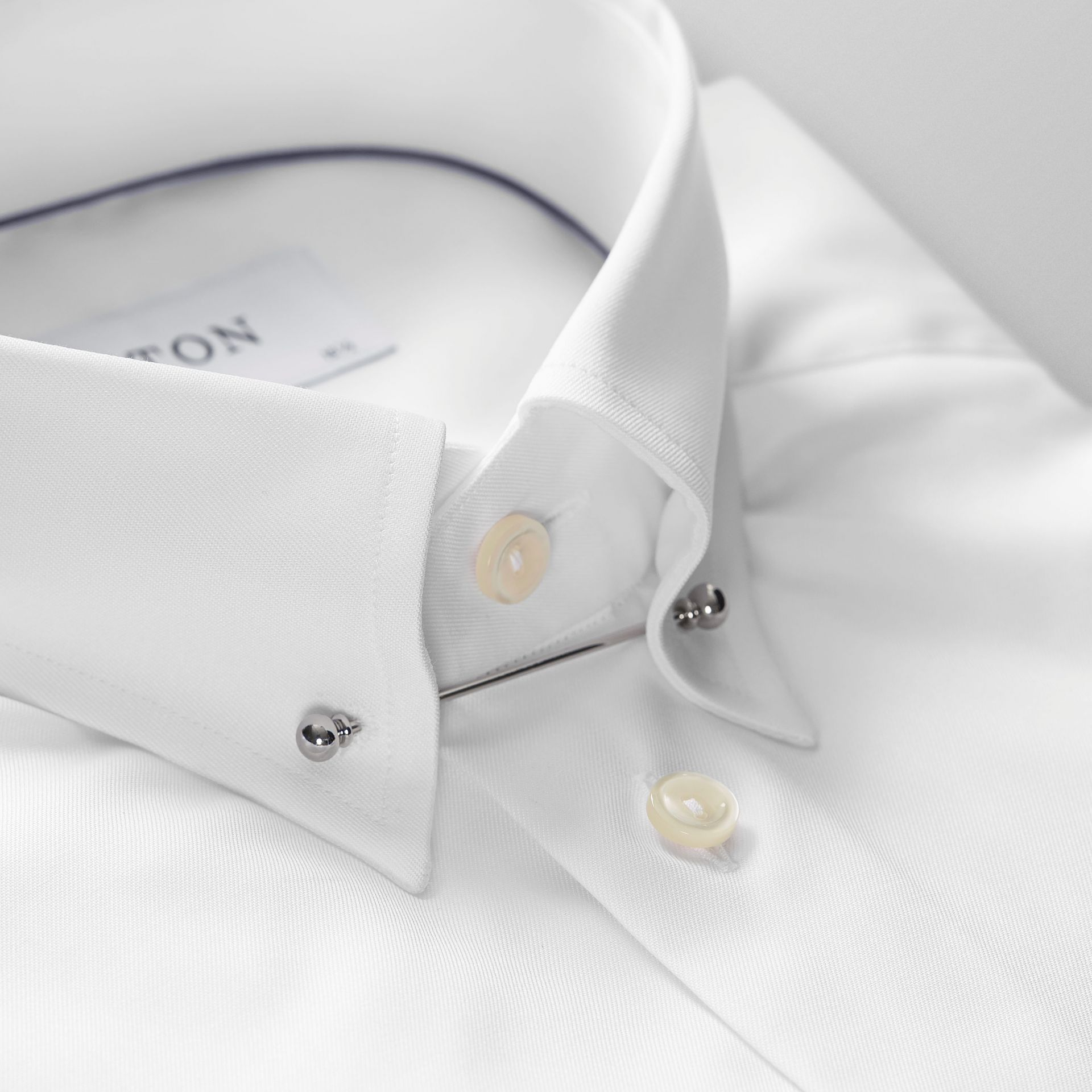 White pointed pin collar shirt contemporary eton for White shirt with collar pin