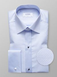 Sky Blue Piqué Evening Shirt