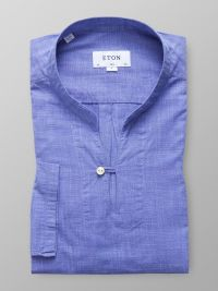 Blue Lightweight Twill Popover Shirt