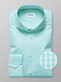 Green Gingham Check Sablé Shirt