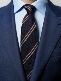Black Striped Grenadine Tie