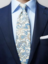 Cotton & Silk Paisley Tie