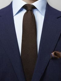 Brown Grenadine Fina Silk Tie