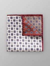 Brown Four Square Silk Pocket Square