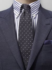 Grey Cotton, Wool & Silk Tie
