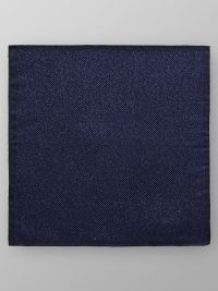 Navy Shimmering Pocket Square