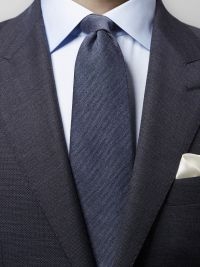 Blue Wool & Silk Tie