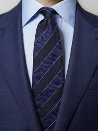 Navy & Blue Striped Tie