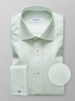 Green Twill French Cuff Shirt Contemporary fit  .  250 · Blue ... 975581eec0687
