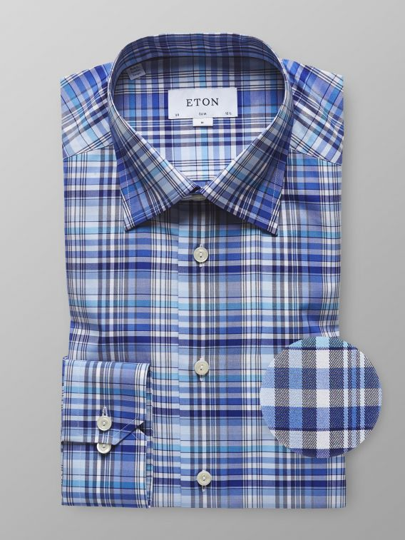 e3a6c129762 Goodthreads Men s Standard Fit Long Sleeve Large Scale Check Shirt Blue  Source · Checkered Shirts For Men Eton Shirts US