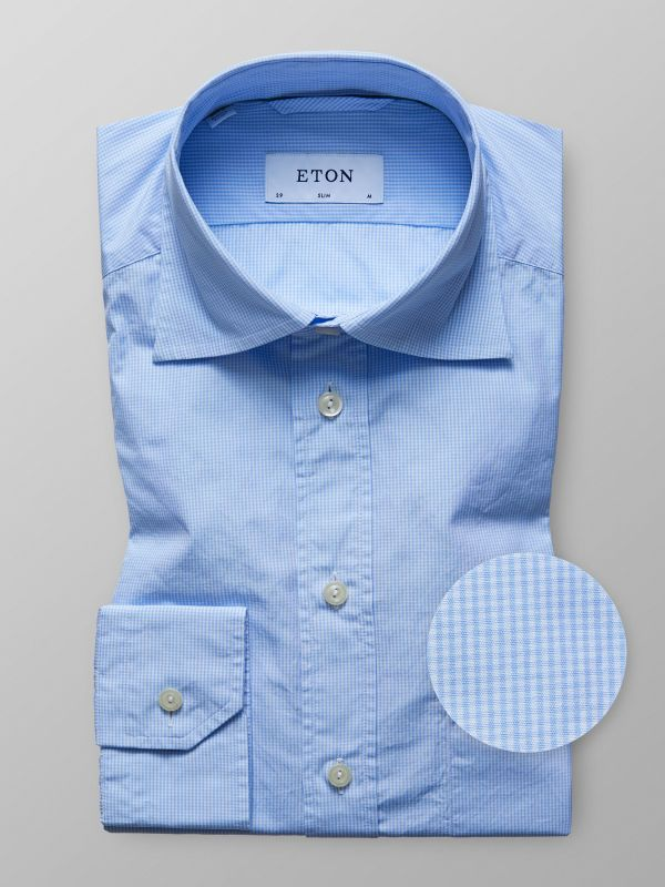 Blue Houndstooth Lightweight Shirt