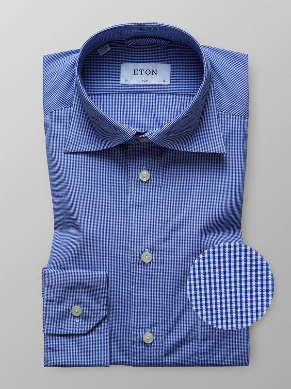 Navy Houndstooth Lightweight Shirt