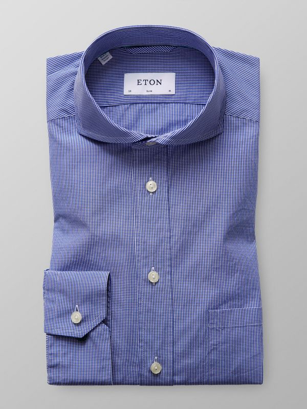 Blue Check Muslin Shirt