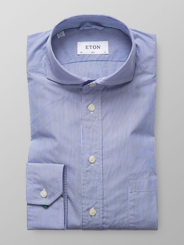 Blue Striped Muslin Shirt