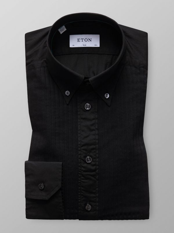 Black Plissé Shirt
