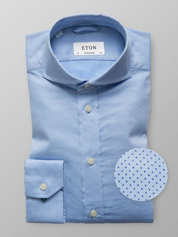 Blue Pin-Dots Shirt