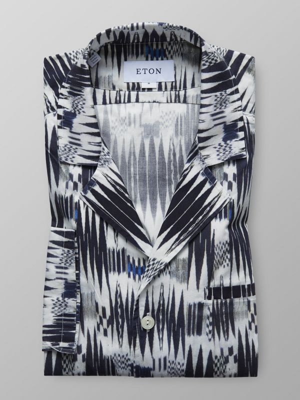 Print Resort Collar Shirt
