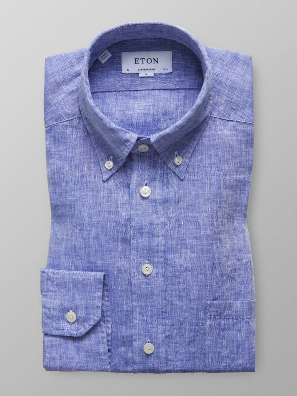 Sky Blue Button Down Linen Shirt