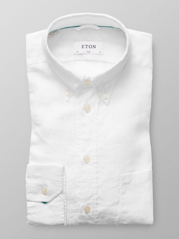 White Button Down Linen Shirt