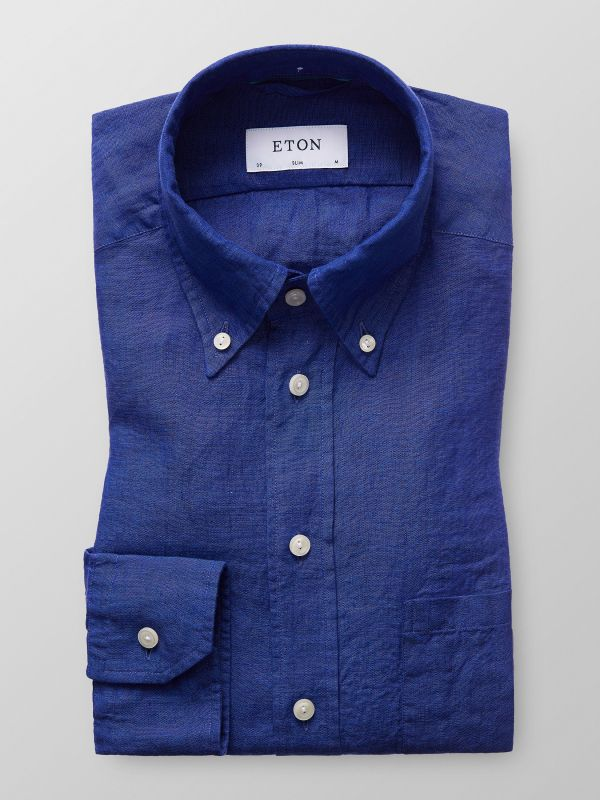 Dark Blue Linen Shirt