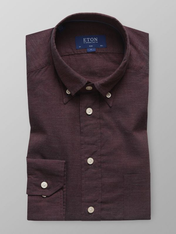 Burgundy Lightweight Flannel Shirt