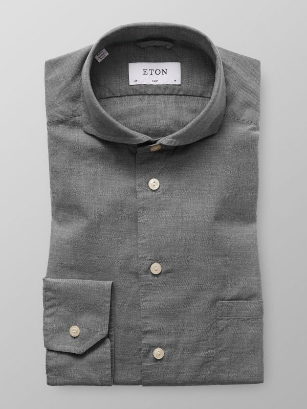 Grey Lightweight Flannel Shirt