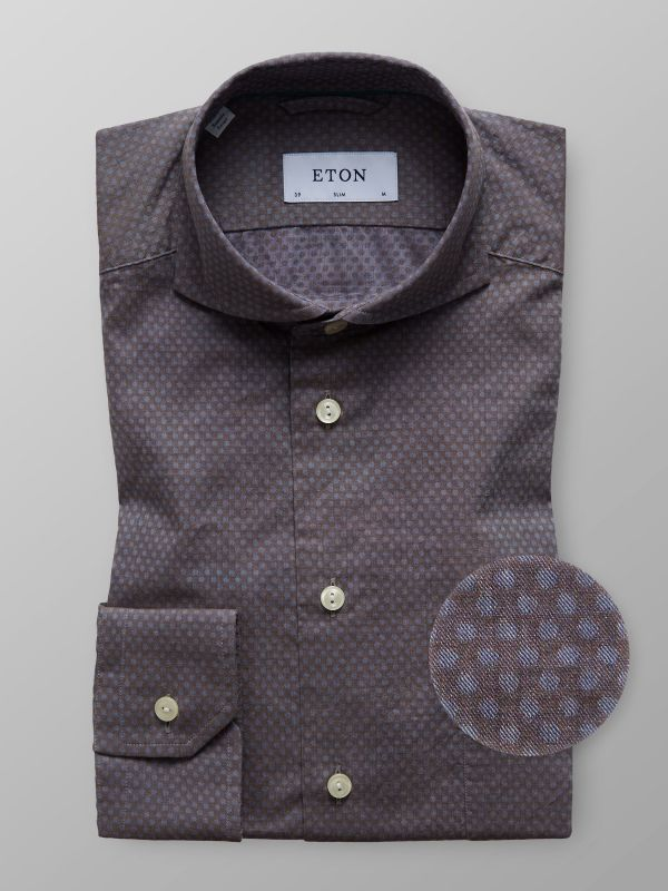 Brown Dotted Flannel Shirt
