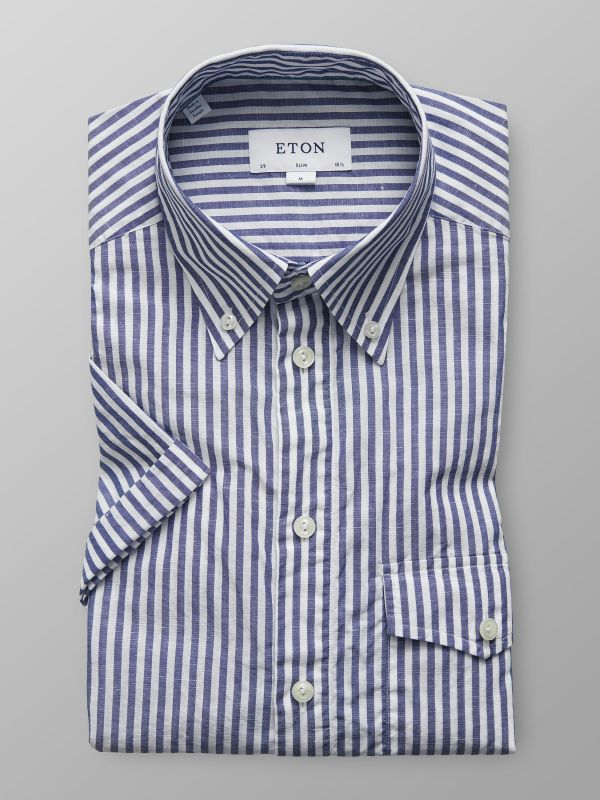Blue Striped Popover Shirt