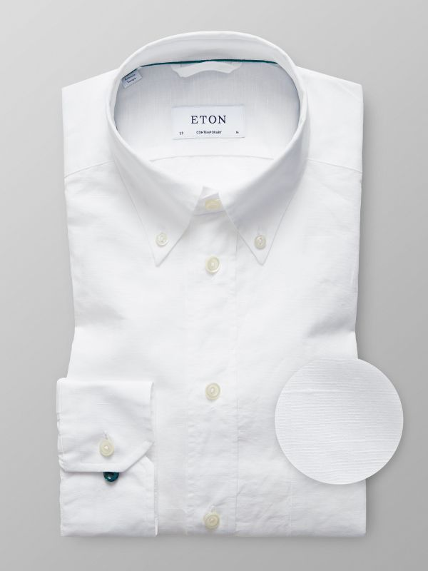 White Cotton & Linen Shirt