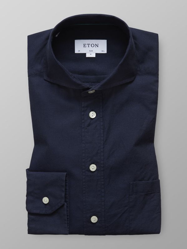Navy Extreme Cut Away Shirt