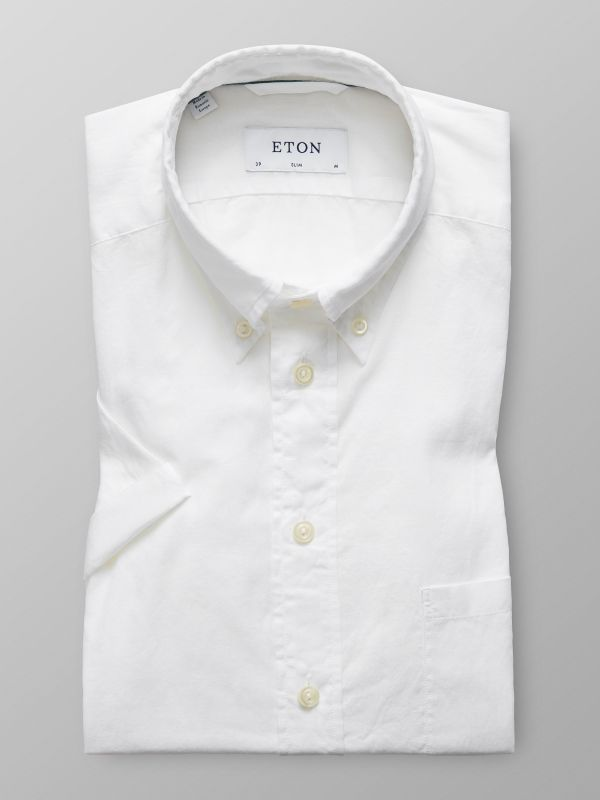 White Short Sleeve Lighweight Shirt