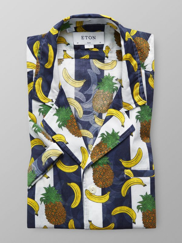 Banana Print Resort Shirt