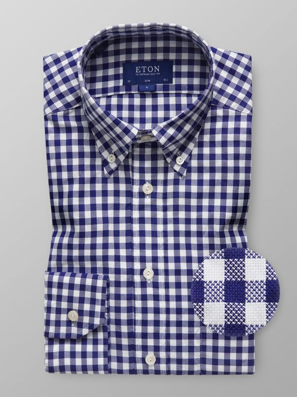 Navy Check Oxford Shirt