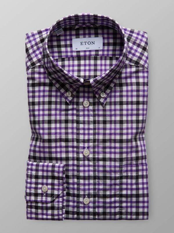 Purple Check Shirt