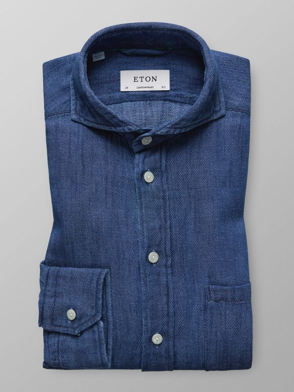 Indigo Cotton & Linen Shirt