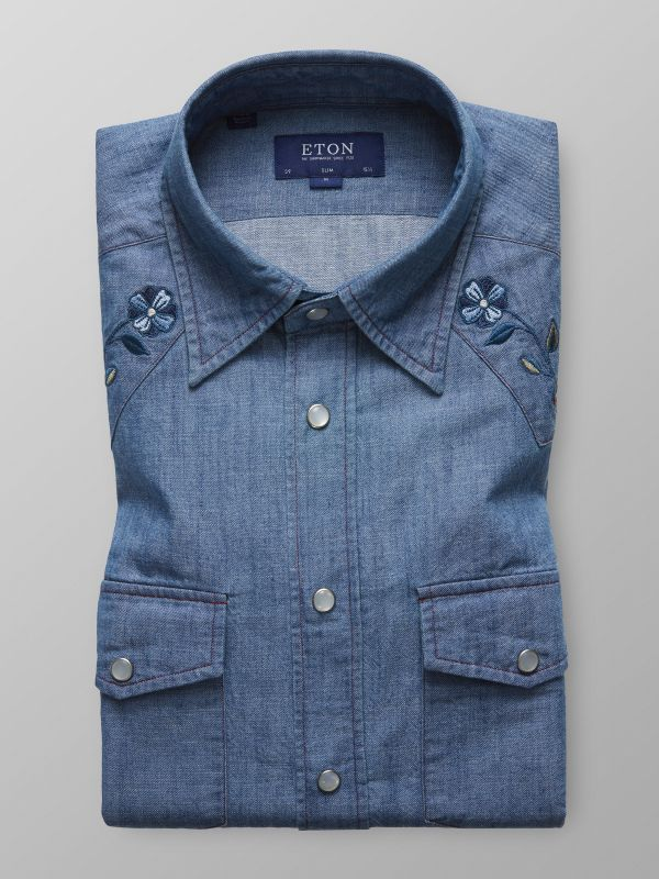 Western Denim Shirt - Embroidery